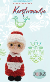 Garenpakket: Jookz Kerstkoukleumpje Kerstvrouw mini
