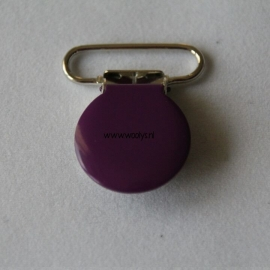 Metalen speenclip rond paars