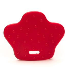 Dierenpoot kunststof  bijtringen - Rood