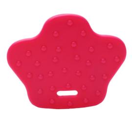 Dierenpoot kunststof  bijtringen - Roze