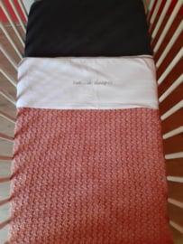 Ledikant deken Oud Roze 100*150