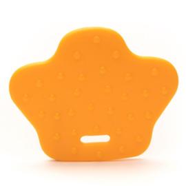 Dierenpoot kunststof  bijtringen - Licht Oranje