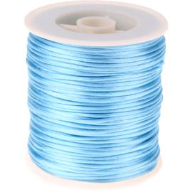 Satijnkoord lichtblauw 1 mm