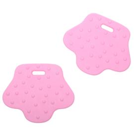 Dierenpoot siliconen bijtringen - Baby Roze