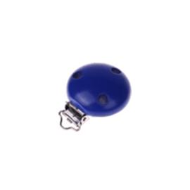Houten speenclip 35mm - donkerblauw