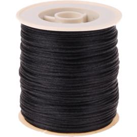 Satijnkoord zwart 2 mm - 50 meter