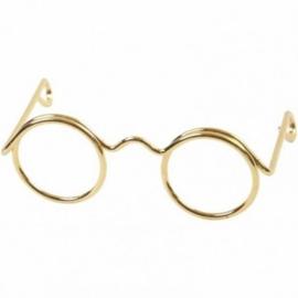 Brilletje goudkleurig 60 mm