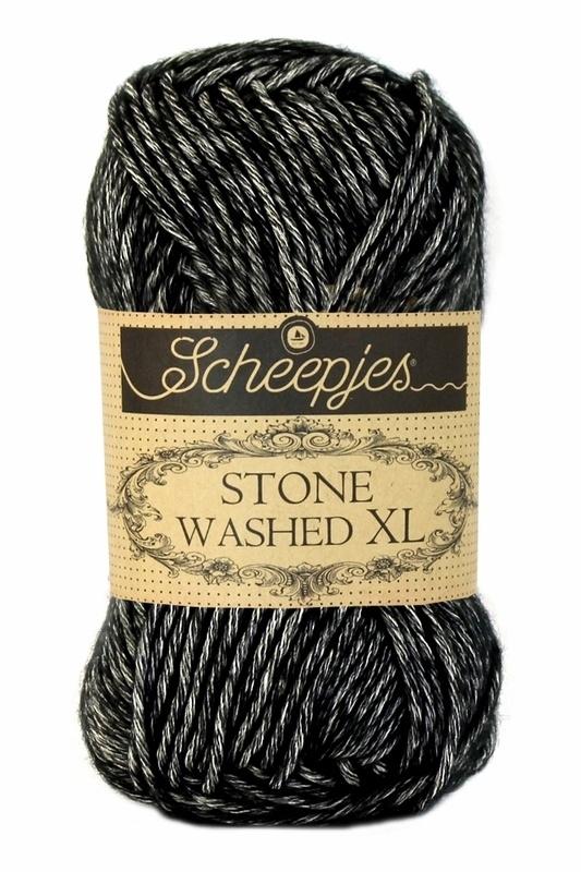 Scheepjeswol Stone Washed XL Black Onyx 843