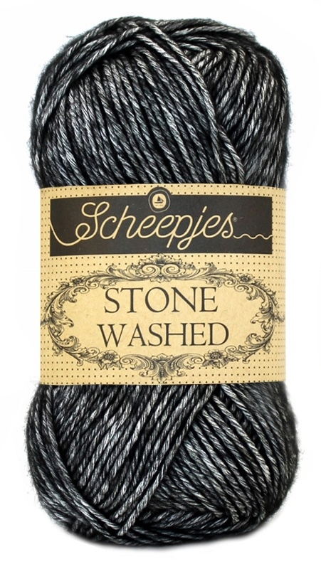 Scheepjeswol Stone Washed  Black Onyx 803