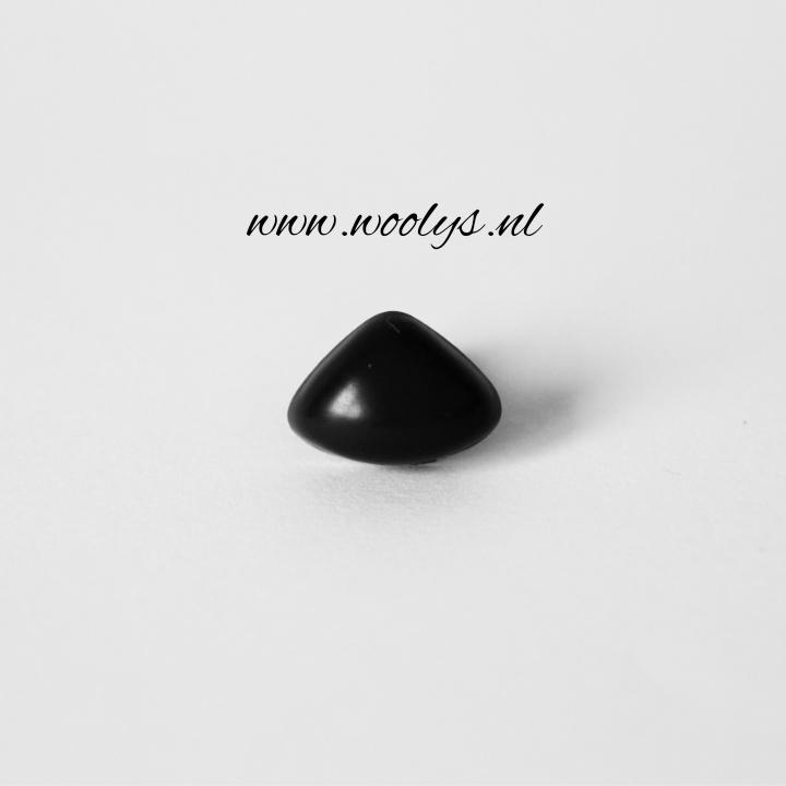 Veiligheidsneus zwart driehoek 18 mm
