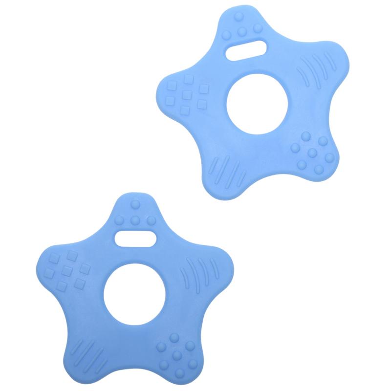 Ster siliconen bijtringen - Baby Blauw