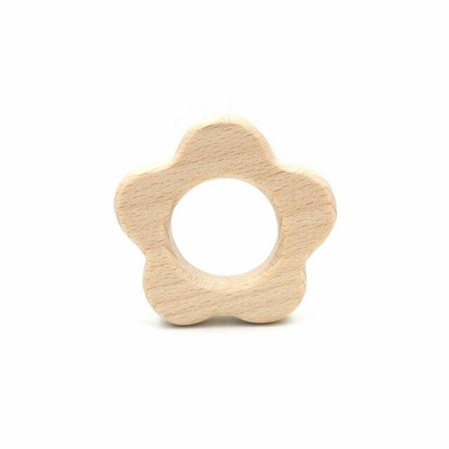 Houten ring bloem