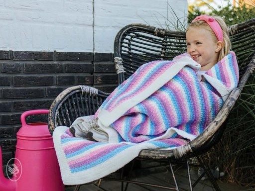 Garenpakket: Durable Happy Unicorn Stripes Blanket
