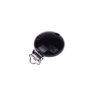 Houten speenclip 35mm - zwart