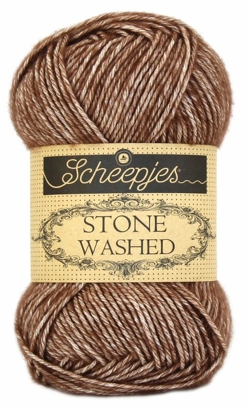 Scheepjeswol Stone Washed Brown Agate 822
