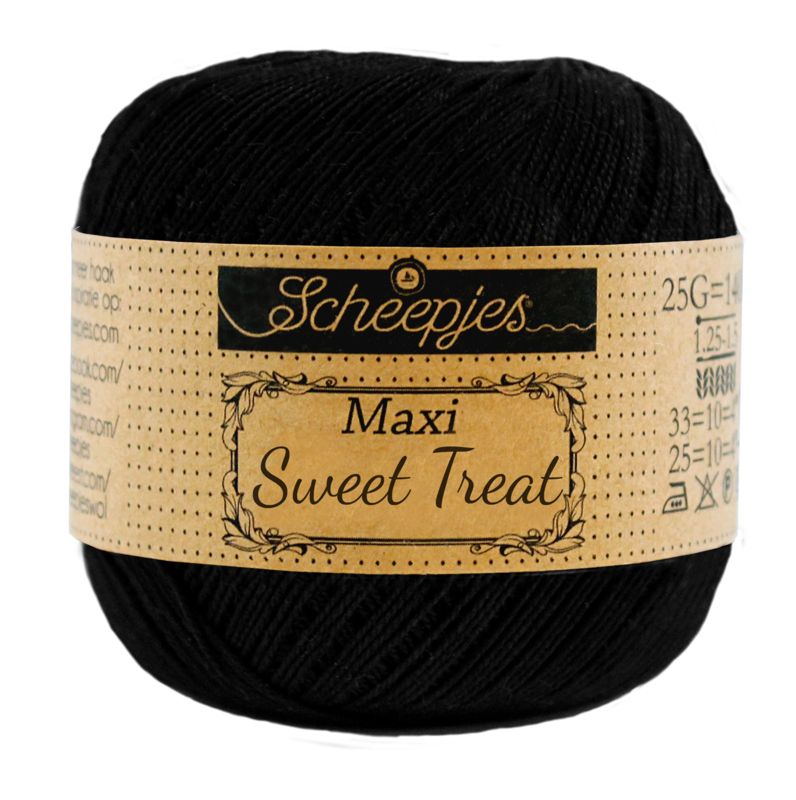 Scheepjes Maxi  Sweet Treat 25 gram -  Jet Black 110