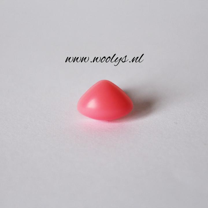 Veiligheidsneus roze driehoek 15 mm
