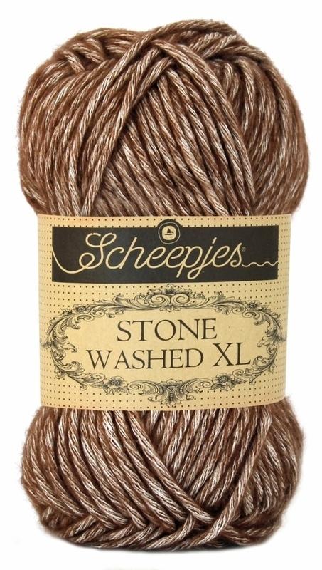 Scheepjeswol Stone Washed XL Brown Agate 862