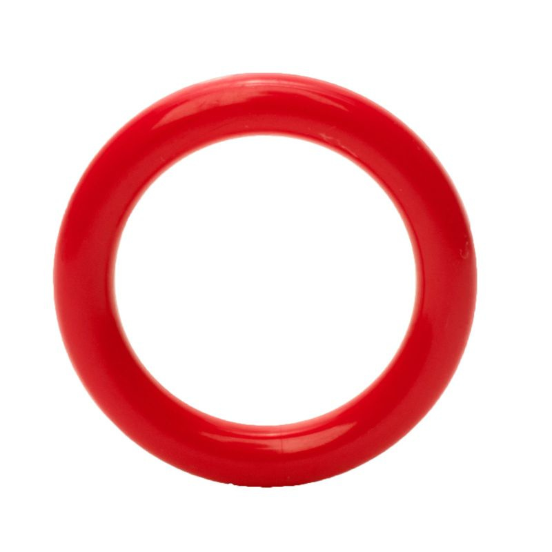 Plastic ringetjes 40 mm Rood