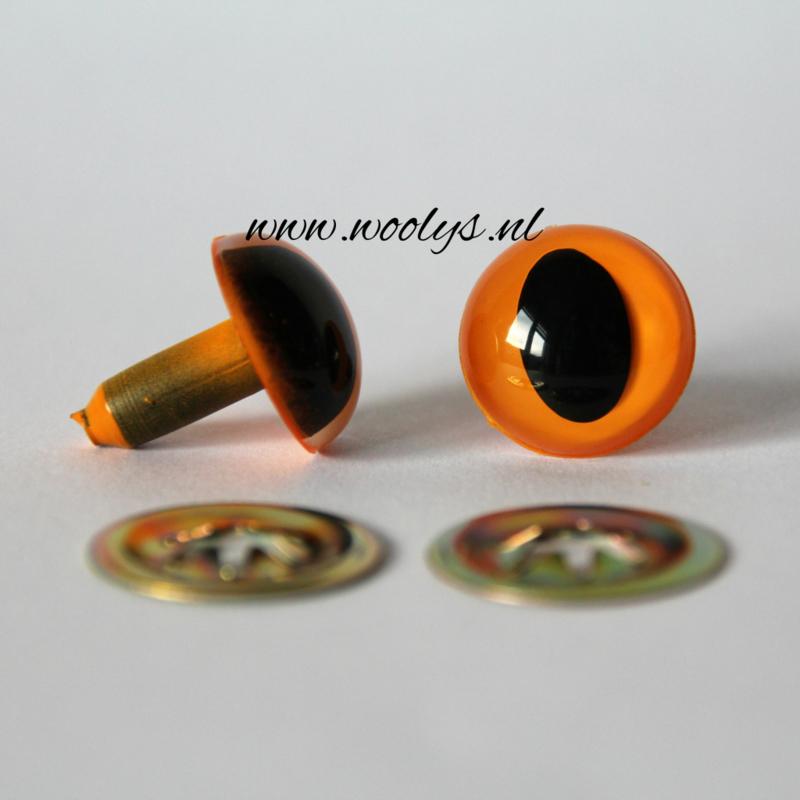 Veiligheidsoogjes Kattenogen Oranje 9 mm