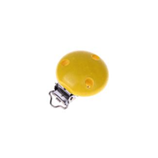 Houten speenclip 35mm - geel