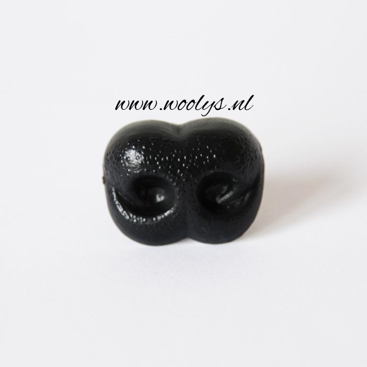 Veiligheidsneus hond zwart 20 mm