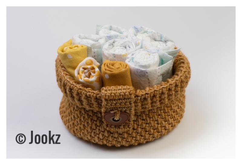 Garenpakket: Jookz Opbergmand Groot Yellow