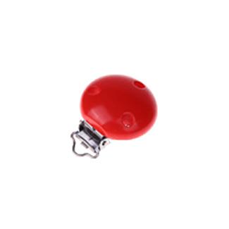 Houten speenclip 35mm - rood