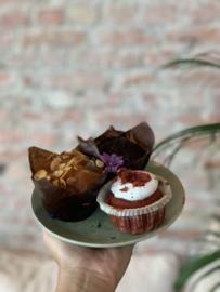 Vegan red velvet muffin (los item bij te bestellen bij het vegan high tea pakket