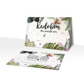 Cadeaubon Oerwoud plants & Vegan Health cafe
