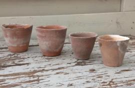 Vintage Terracotta Potjes