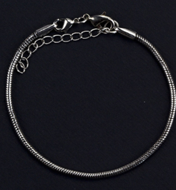 Armband platinum 16cm, middel