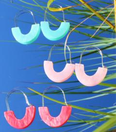 Take a bow oorbellen blauw