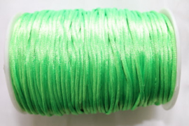 satijnkoord fluor groen 1 meter x 2mm
