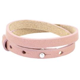 Cuoio armbanden leer 8mm dubbel voor 12 mm cabochon Mesa rose