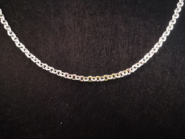 Ronde schakelketting zilver 1 meter