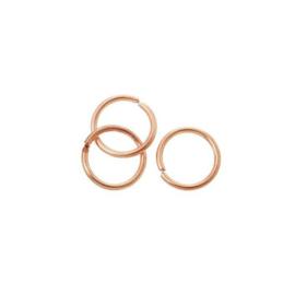 Enkele splitring rosé goud 6 mm, 50 stuks