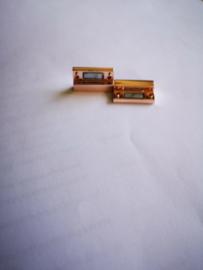 Basic magneetslot metaal rose 2x3.4mm