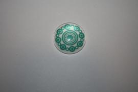 Zeeuwse knop Turquoise 20mm