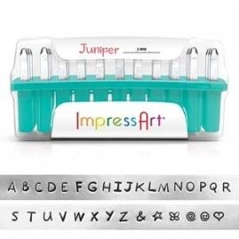 ImpressArt slagletterset Juniper 3mm uppercase