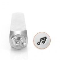 designstempel muzieknoot 6mm