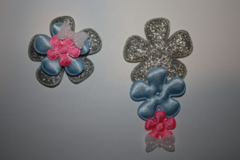 grijs blauw roze