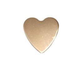 koperen hart 10 x 11,5 x 1mm