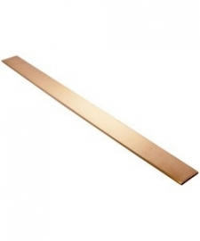 Koperen strip 150 x 7 x 1,5mm