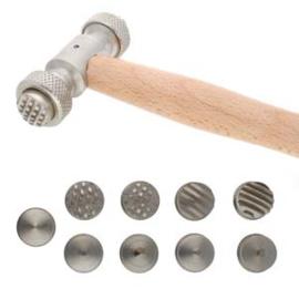 textuur hamer met 9 verwisselbare koppen