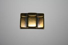 Metaal magneetslot antiek brons