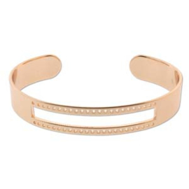 Rose gold plated cuff armband