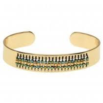Goldplated cuff armband