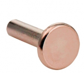 Tubulaire rivets rosé 8mm