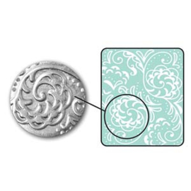 Embossing mal botanical swirls